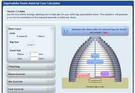 earthbag dome material cost calculator natural building blog