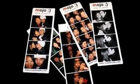 mojo photo booth half photo booth rental package rock it llc groupon