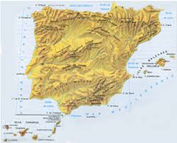 physical map of spain geography in spain spain maps andalucia maps of andalucia