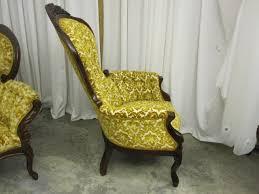 Vintage Victorian Style Cameo Sofa  Balloon Back Chair By Kimball - Cameo sofa