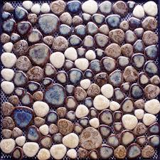 Mosaic Tile Kitchen Backsplash Pebble Mosaic Shower Tile Ceramic - Pebble backsplash