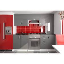 cuisine grise pas cher amanda gris cuisine complète 220 cm achat vente cuisine