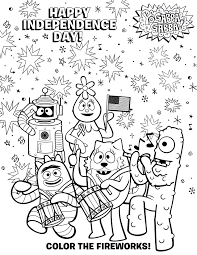 enjoy free ygg july4th coloring sheet 4th july fun