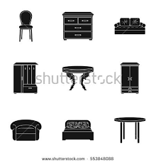 Home Interior Vector by Old Fashioned Retro Furniture Stock Vector 72083719 Shutterstock