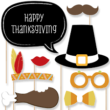 thanksgiving supplies give thanks thanksgiving party 20 piece photo booth props kit