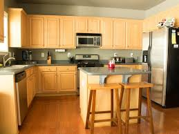 Light Brown Kitchen Cabinets Cabinet Astounding How To Refinish Kitchen Cabinets For Home