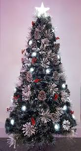 the 4ft snowy led frosted pine fibre optic tree