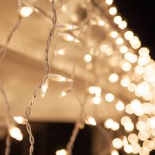 white lights christmas icicle light 100 clear icicle lights white wire