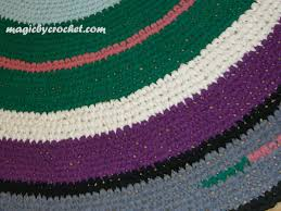 Nursery Area Rugs Crochet Rug Large Round Rug Rag Rug Nursery Rug Large Area Rug