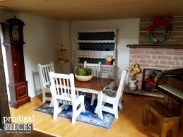 repurposed radio cabinet turned dollhouse prodigal pieces dollhouse dining room by prodigal pieces www prodigalpieces com