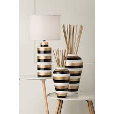 lighting australia 936 shae white gold and black ceramic table