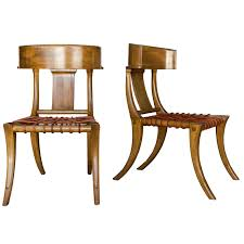 Kreiss Outdoor Furniture by Handsome Pair Of Klismos Chairs By Kreiss At 1stdibs