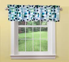 black white green pixels window valance geometric window