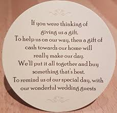 wedding gift poems wedding money request poems for your home on card 100