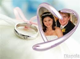 montage mariage montage photo mariage photo en cœur avec diapola