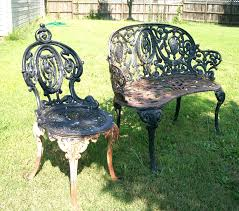 Wrought Iron Outdoor Patio Furniture by Wrought Iron Benches Ebay Wrought Iron Garden Bench Ebay Outdoor