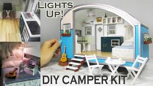 diy caravan dollhouse kit with a modern spin youtube