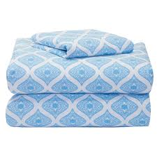 Twin Xl Bedding Sets For Guys Kaleidoscope Blue College Classic 3 Piece Twin Xl Sheet Set