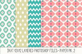 layered photoshop ikat pattern no 2 patterns creative market