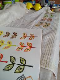 Bed Sheet Designs For Fabric Paint Bringing Up Coco Paint Me A Leaf