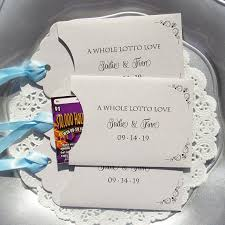 lottery ticket wedding favors wedding guest favors wedding lottery ticket wedding favors