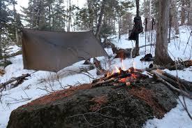 winter camping in northern minnesota war bonnet blackbird xlc