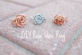 simple wire rings images D i y all the time rose wire ring jpg