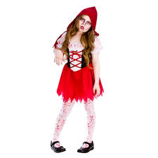 child zombie halloween costume little red riding hood book day fairytale kids girls child fancy