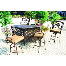 Cast Aluminum Patio Furniture Clearance by Darlee Ten Star 5 Piece Cast Aluminum Patio Party Bar Set With