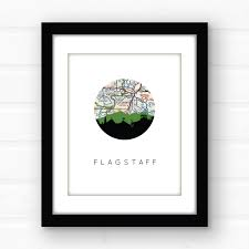 Flagstaff Arizona Map by Flagstaff Arizona Art Print Arizona Map Art Flagstaff City