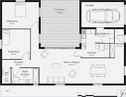 plan maison gratuit plain pied 3 chambres plan maison plain pied 1 chambre mobokive org