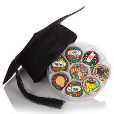 graduation gift basket graduation cap and wheel of 16 chocolate covered oreos free shipping