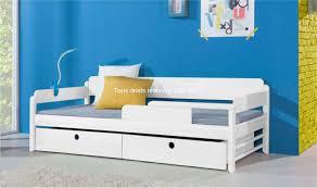 chambre enfant bois massif vente lit enfant en bois massif 90x200 verso avec 2 tiroirs de