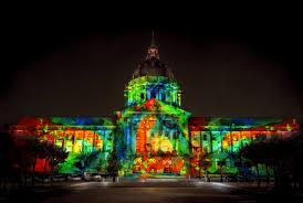 sf city hall lights san francisco projection project nov 17 2015 bill ham lights
