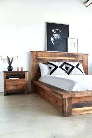Pine Platform Bed With Headboard Wood Platform Frame California King Queen Size Twin Full Pine Devon