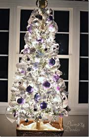 themed christmas trees a purple white and silver themed christmas tree plum doodles