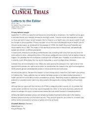 privacy balance sought letter to editor applied clinical trials 2 u2026
