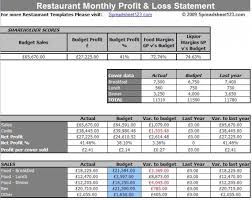 Income And Expenses Excel Template Restaurant Income And Expenditure Billing Excel Template