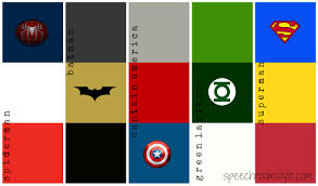 Different Color Schemes Superhero Color Schemes 1 Speech Room Style