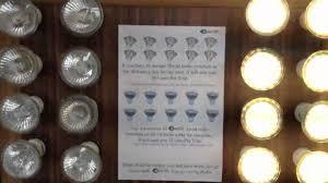 gu10 halogen vs gu10 led bulbs youtube