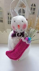 unique handmade snowman ornament has a big personality