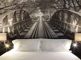 trompe l oeil chambre tête de lit les idées à piquer aux hôtels décoration