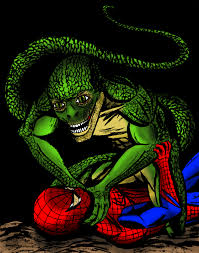 amazing spider man vs lizard movie version color by marioucomics
