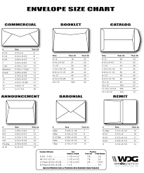 Dimensions For Business Card Envelope Size Chart By We Do Graphics Customer Resources