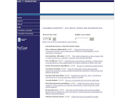 columbia university electronic theses and dissertations