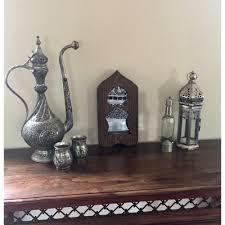 moroccan style handmade decorative wooden mirrors door handles