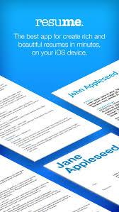 Resume Designer App Resume Maker Pro Cv Designer On The App Store