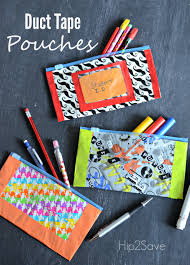 duct tape pencil pouches easy back to craft pencil