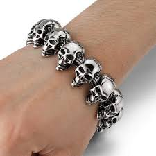 mens bracelet with skull images Men 39 s bracelet skull 90 discount deals jpg