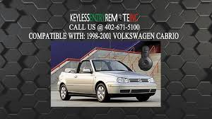 how to replace volkswagen cabrio key fob battery 1998 1999 2000